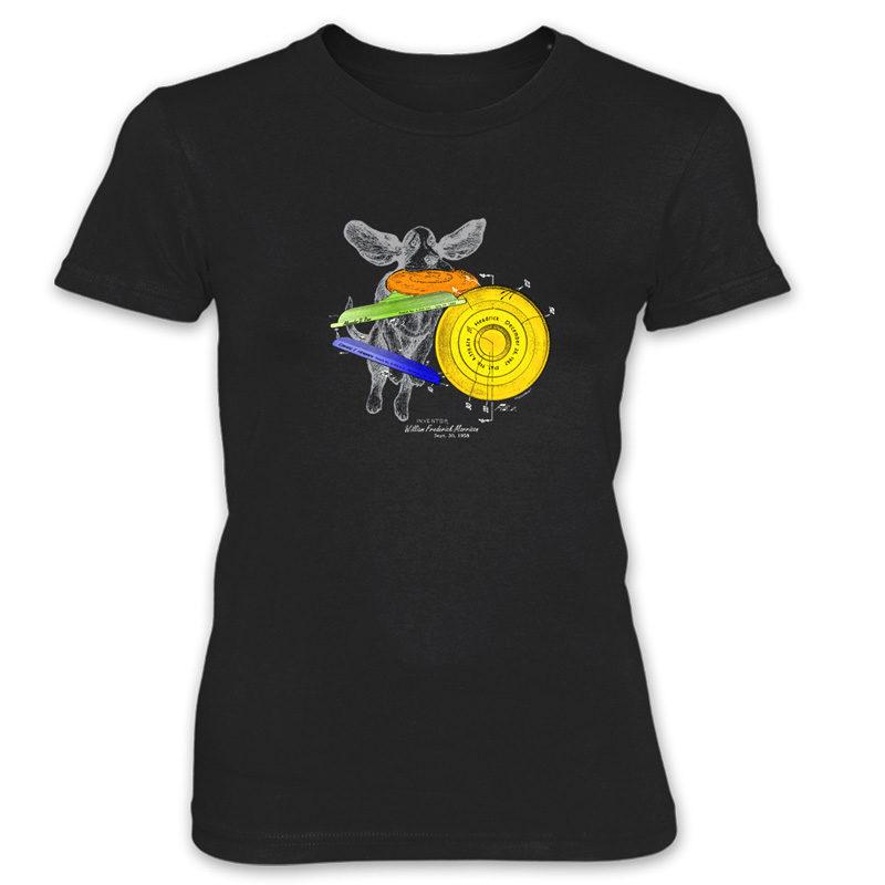 Flying Disc Women's T-Shirt BLACK