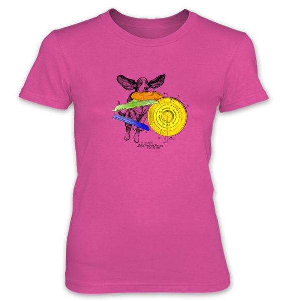Flying Disc Women's T-Shirt HOT PINK