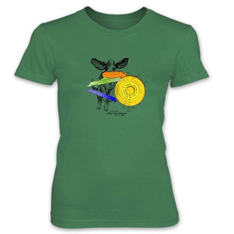 Flying Disc Women's T-Shirt KELLY GREEN