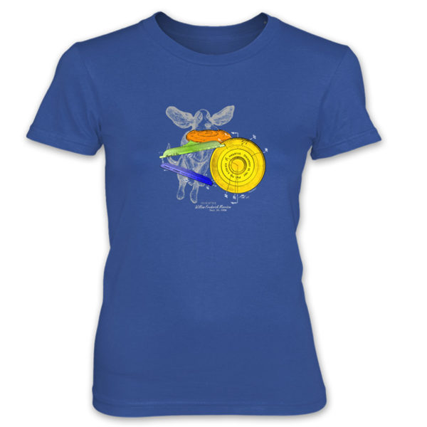 Flying Disc Women's T-Shirt ROYAL BLUE