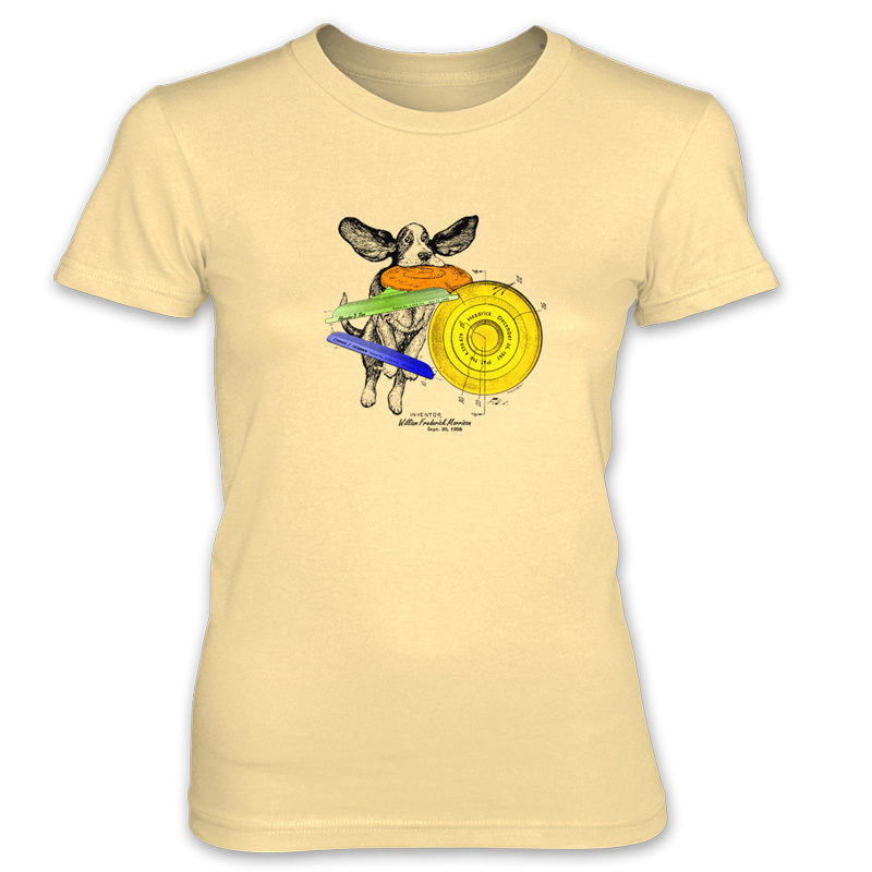 Flying Disc Women's T-Shirt SPRING YELLOW