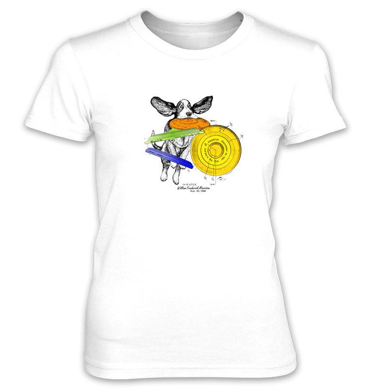 Flying Disc Women's T-Shirt WHITE
