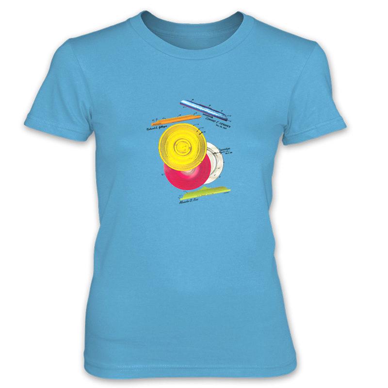 Frisbie MS-Color Women's T-Shirt CARIBBEAN BLUE