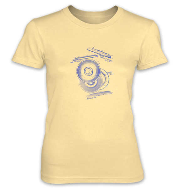 Frisbie MS-Lineart Women's T-Shirt SPRING YELLOW