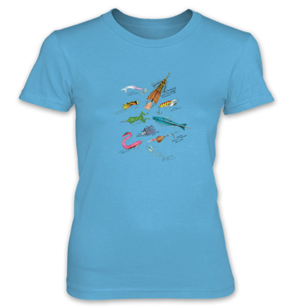 Lures MS-Color Women's T-Shirt CARIBBEAN BLUE