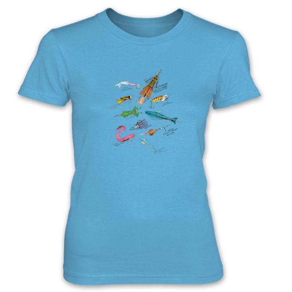 Lures MS-Color Women's T-Shirt CARIBBEAN BLUE