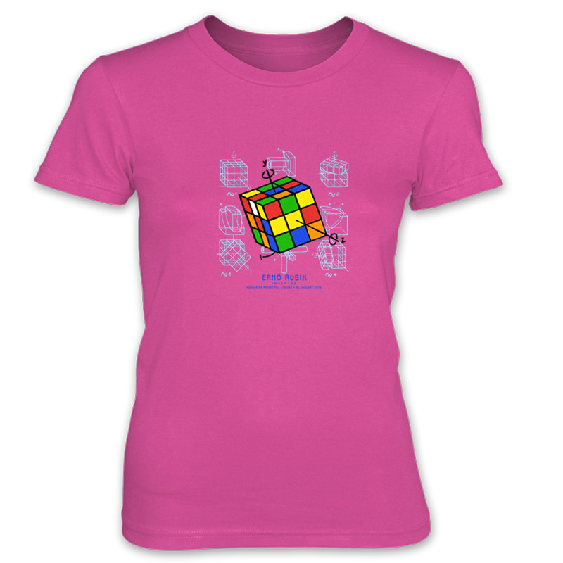 Magic Cube Women's T-Shirt HOT PINK