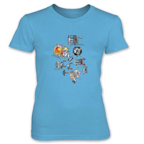 Reels MS-Color Women's T-Shirt CARIBBEAN BLUE