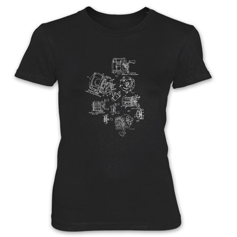 Reels MS-Lineart Women's T-Shirt BLACK