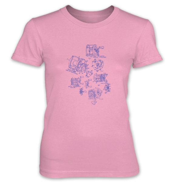 Reels MS-Lineart Women's T-Shirt CHARITY PINK
