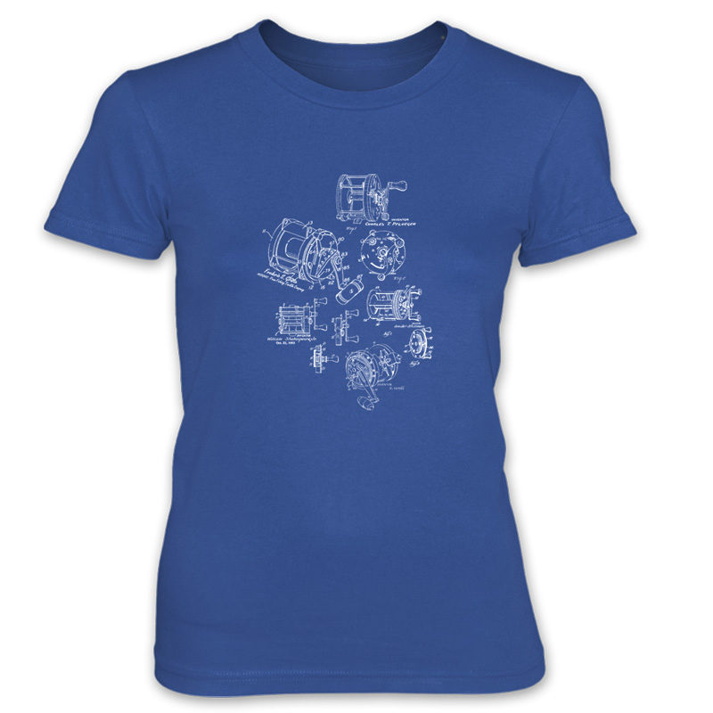 Reels MS-Lineart Women's T-Shirt ROYAL BLUE