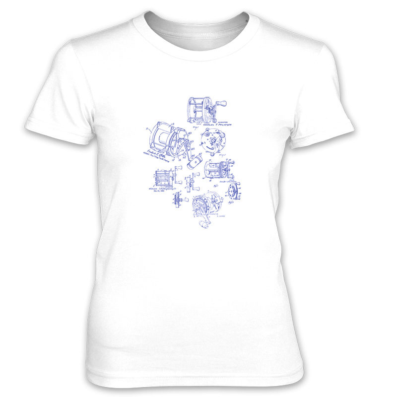Reels MS-Lineart Women's T-Shirt WHITE