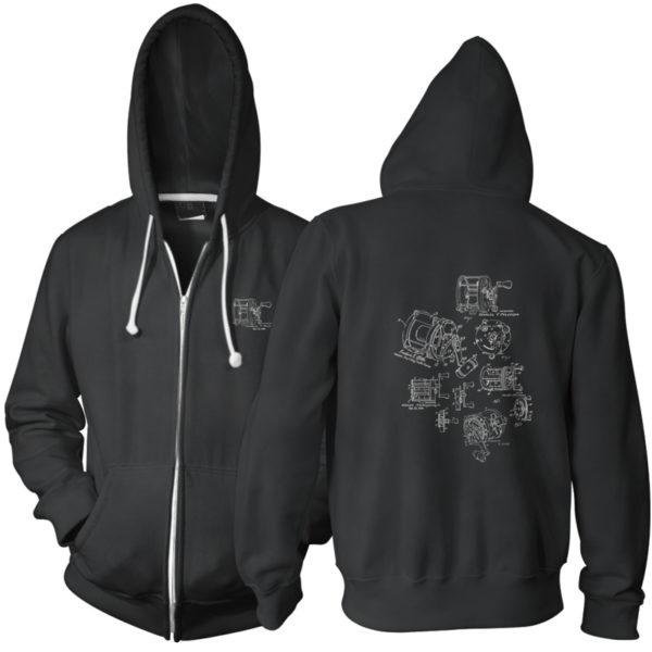 Reels MS-Lineart Zip Hoodie BLACK