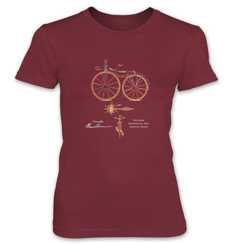 Velocipede Women's T-Shirt INDEPENDENCE RED