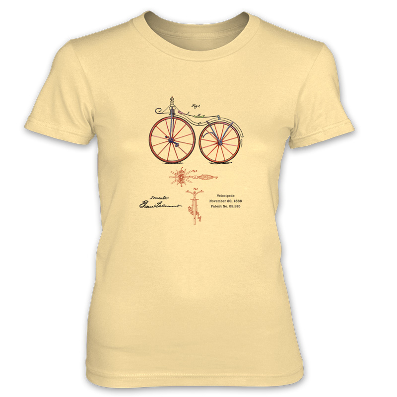 Velocipede patent t shirt women patentwear for How to patent a t shirt