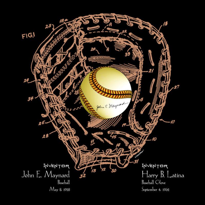 Ball & Glove Design on Darks