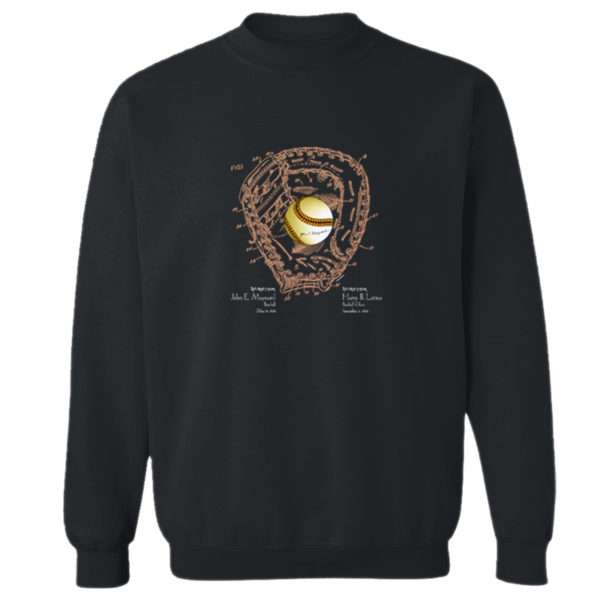 Ball & Glove Crewneck Sweatshirt BLACK
