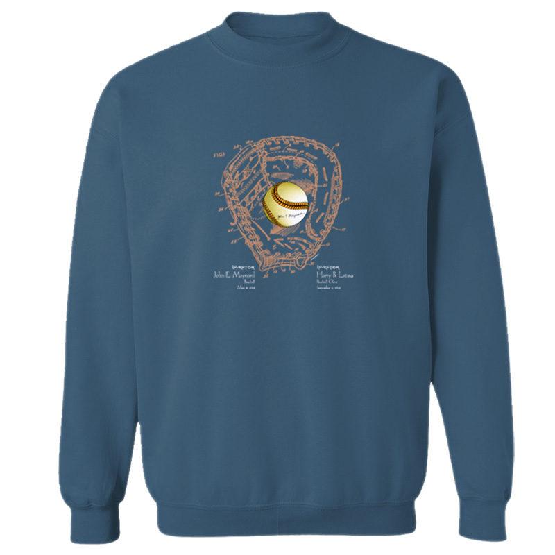 Ball & Glove Crewneck Sweatshirt INDIGO BLUE
