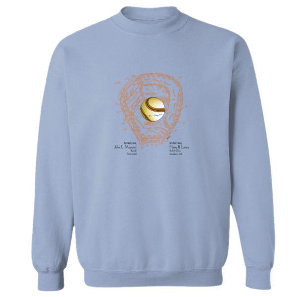 Ball & Glove Crewneck Sweatshirt LIGHT BLUE