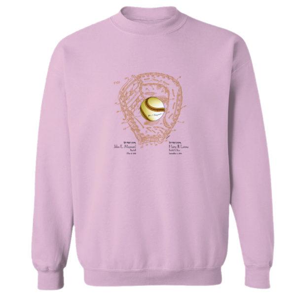 Ball & Glove Crewneck Sweatshirt LIGHT PINK