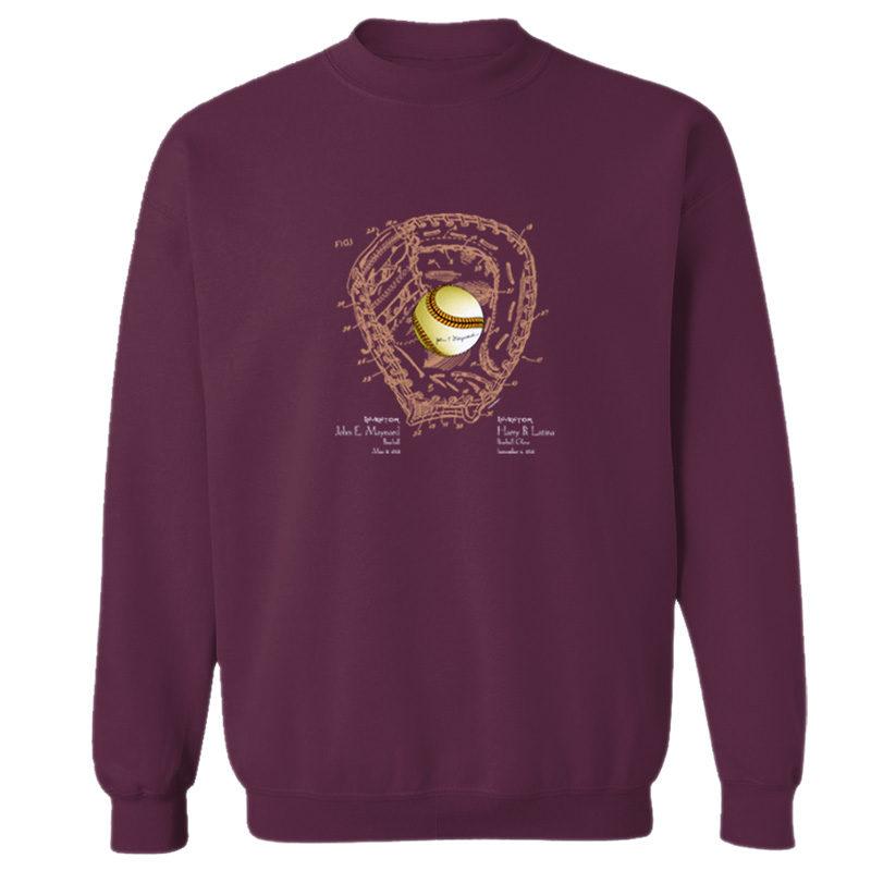 Ball & Glove Crewneck Sweatshirt MAROON