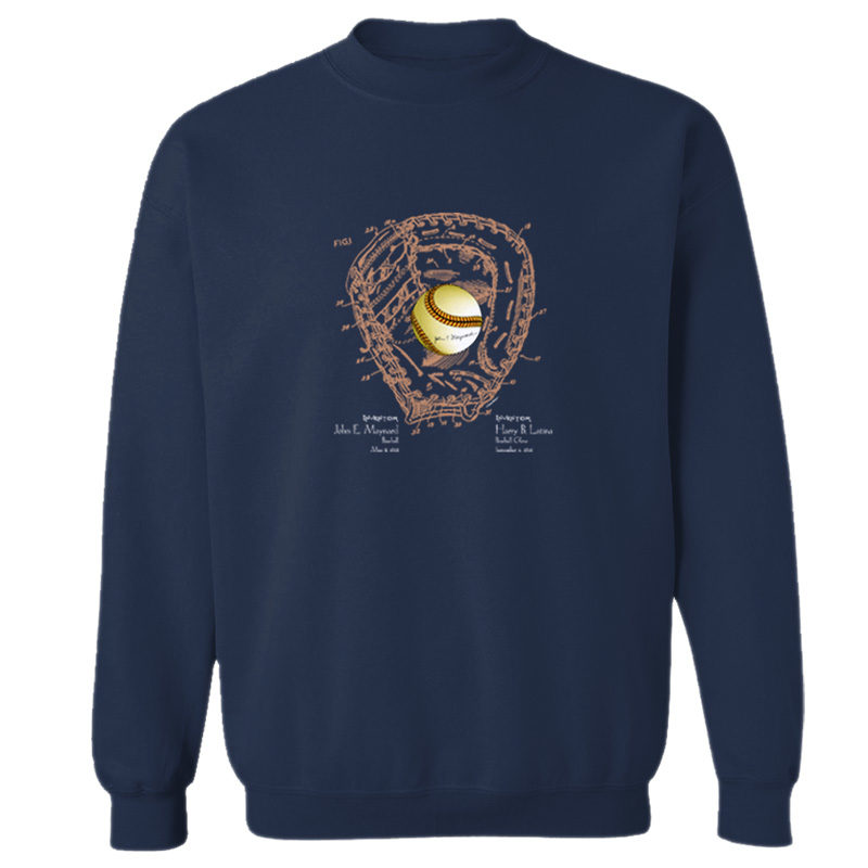 Ball & Glove Crewneck Sweatshirt NAVY