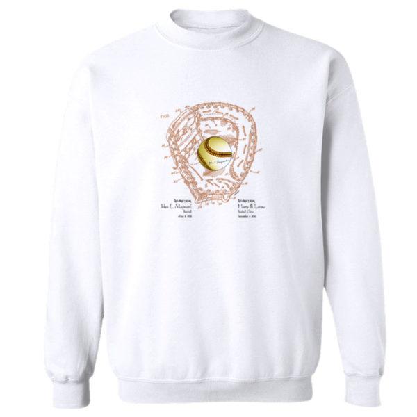 Ball & Glove Crewneck Sweatshirt WHITE