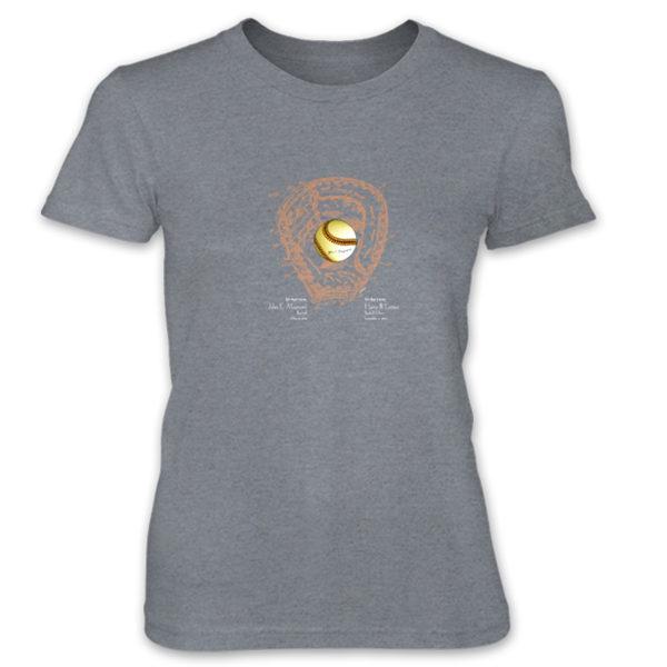 Ball & Glove Women's T-Shirt HEATHER GREY