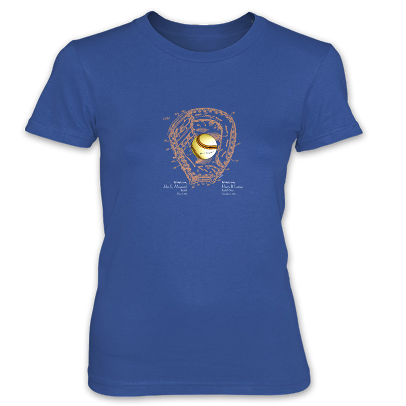 Ball & Glove Women's T-Shirt ROYAL BLUE