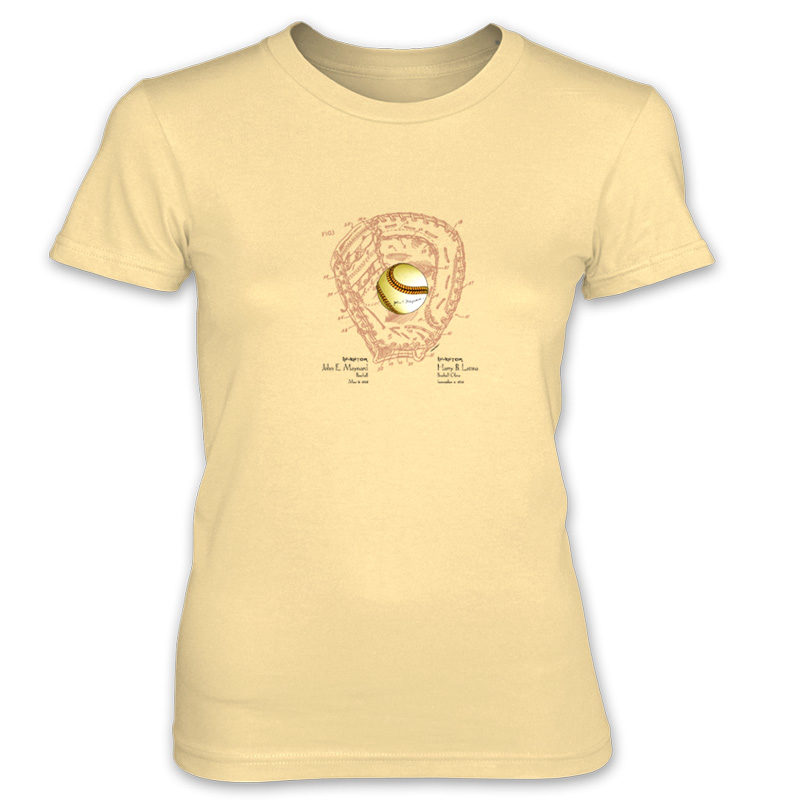 Ball & Glove Women's T-Shirt SPRING YELLOW