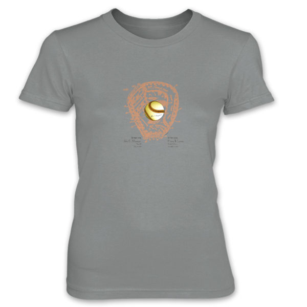 Ball & Glove Women's T-Shirt STORM GREY (2XL ONLY)