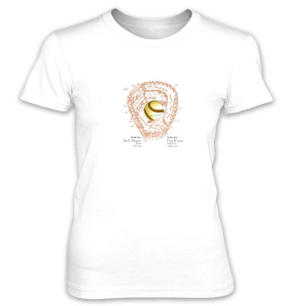 Ball & Glove Women's T-Shirt WHITE