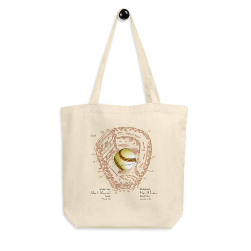 Ball & Glove Tote Bag FRONT