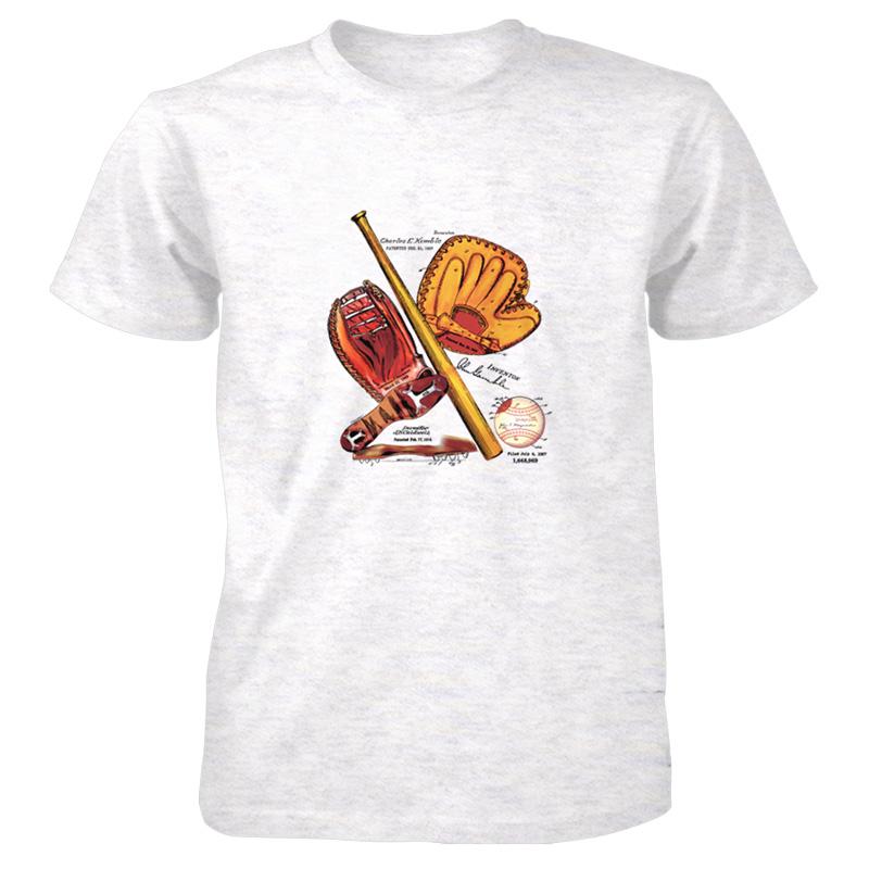 Baseball MS-Color T-Shirt ASH