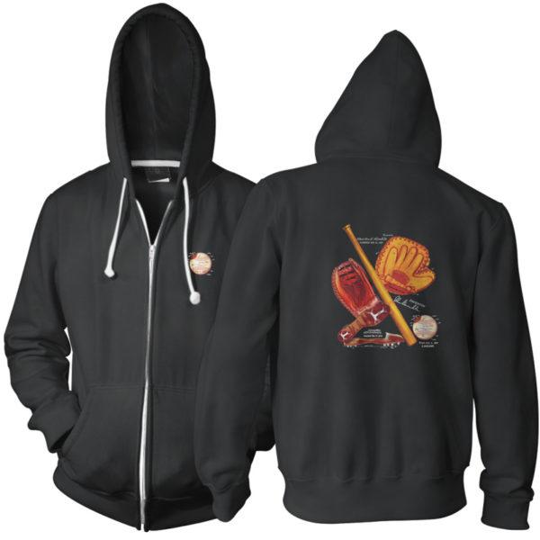 Baseball MS-Color Zip Hoodie BLACK