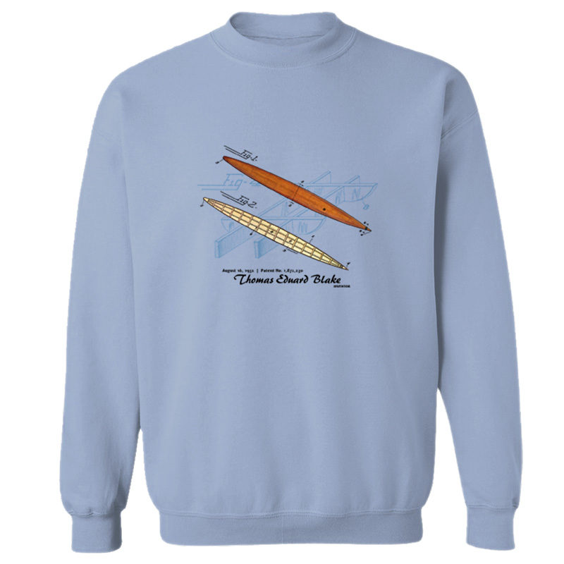 Blake Paddle Board Crewneck Sweatshirt LIGHT BLUE