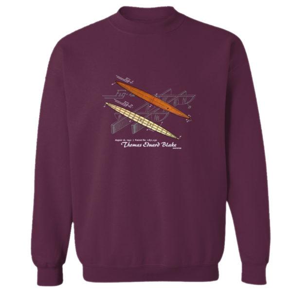 Blake Paddle Board Crewneck Sweatshirt MAROON