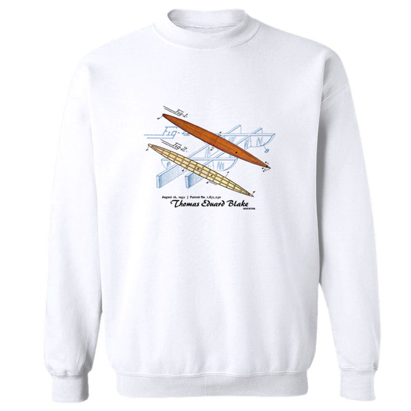 Blake Paddle Board Crewneck Sweatshirt WHITE