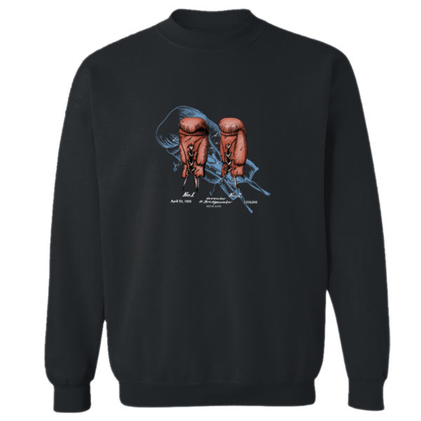 Boxing Glove Crewneck Sweatshirt BLACK