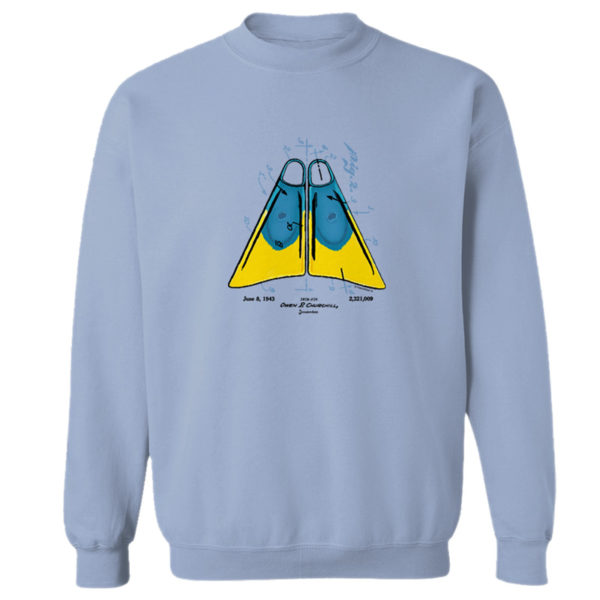 Churchill Fins Crewneck Sweatshirt LIGHT BLUE