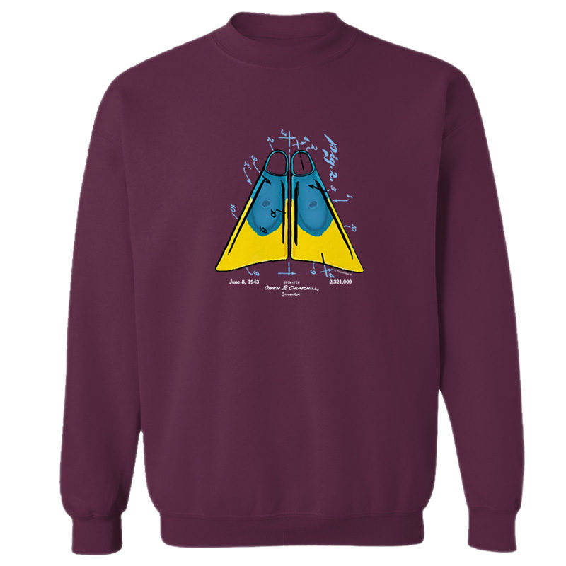 Churchill Fins Crewneck Sweatshirt MAROON