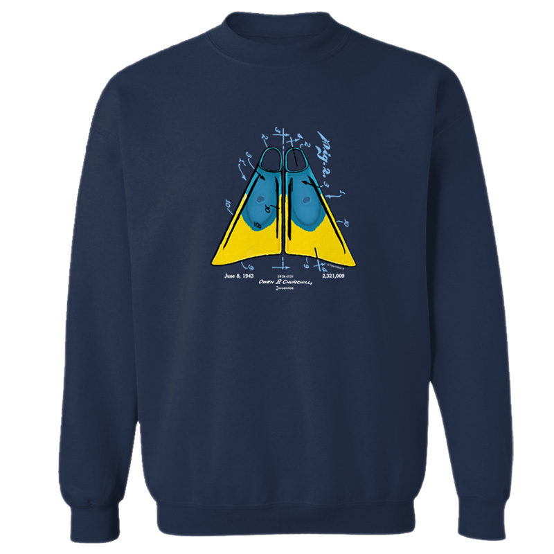 Churchill Fins Crewneck Sweatshirt NAVY