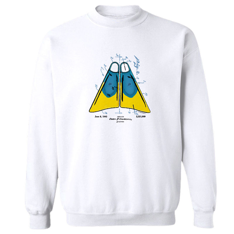 Churchill Fins Crewneck Sweatshirt WHITE