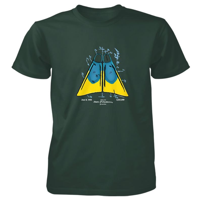 Churchill Fins T-Shirt FOREST