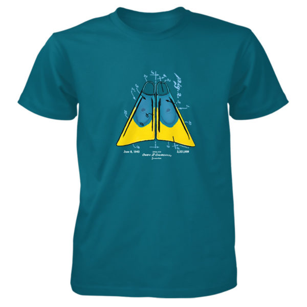 Churchill Fins T-Shirt GALAPAGOS BLUE