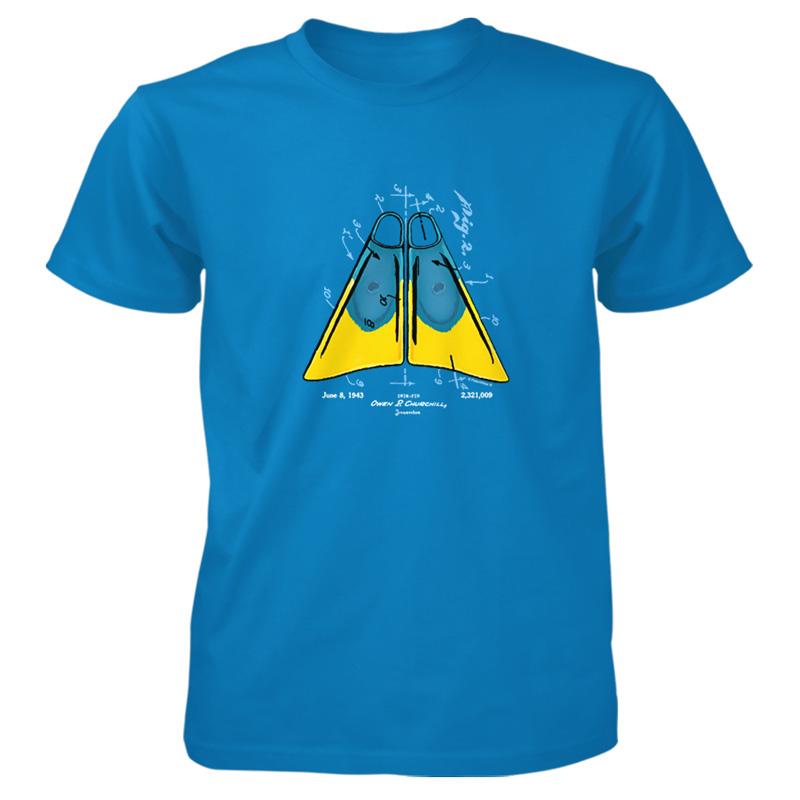 Churchill Fins T-Shirt SAPPHIRE