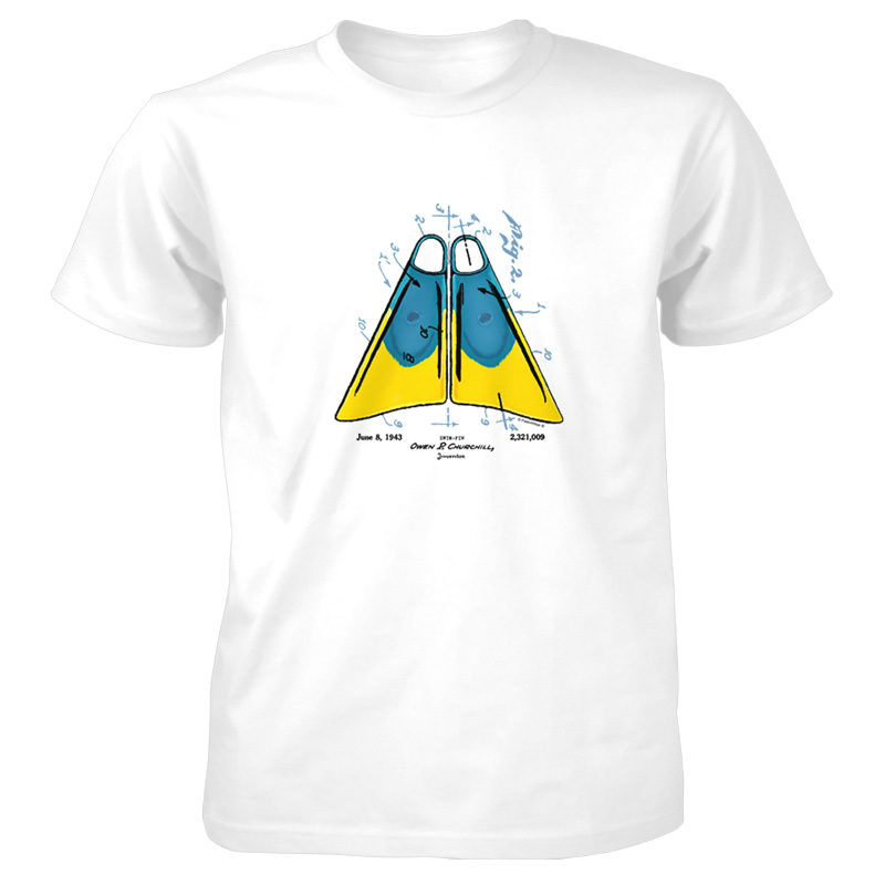 Churchill Fins T-Shirt WHITE