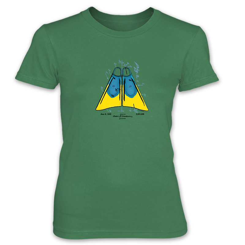 Churchill Fins Women's T-Shirt KELLY GREEN