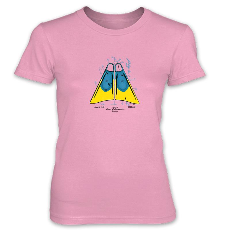 Churchill Fins Women's T-Shirt CHARITY PINK