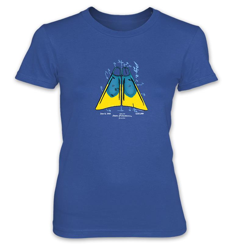 Churchill Fins Women's T-Shirt ROYAL BLUE